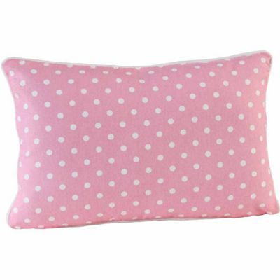 Homescapes Cotton Pink Polka Dots Cushion Cover, 30 x 50 cm