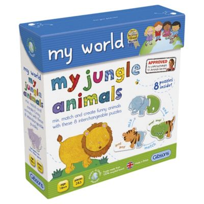 Jungle Animals mixmatch puzzle Age 18m+