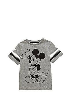 Disney Mickey Mouse Print T-Shirt - Grey