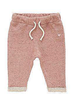 F&F Sparkle Knit Drawstring Joggers - Pink