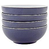 Denby Essentials Dusk Blue & Mint 4 Piece Coupe Cereal Bowl Set