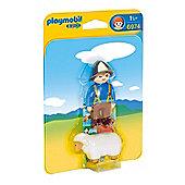 Playmobil 1.2.3 Shepherd with Sheep 6974