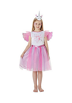 F&F Unicorn Fancy Dress Costume with Headband and Wings - Lilac