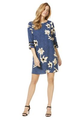 Only Floral Spotted 3/4 Sleeve Dress Multi XS