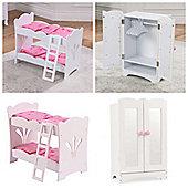 Kidkraft Lil Doll Bunk Bed and Wardrobe