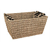 Set of 3 Seagrass Rectangular Baskets