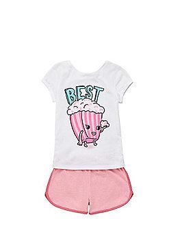 F&F Best Friends Slogan Pyjamas - White