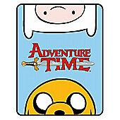 Adventure Time Panel 100% Polyester Fleece Blanket Throw
