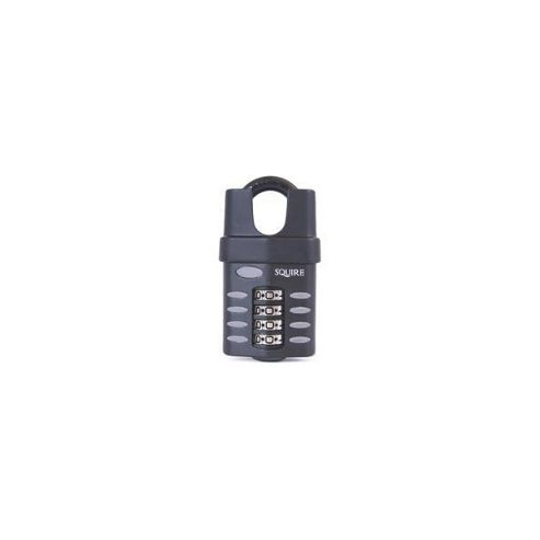 Squire CP50 Series 50mm Steel Shackle Combination Padlock - KD 64mm Long Shackle Visi