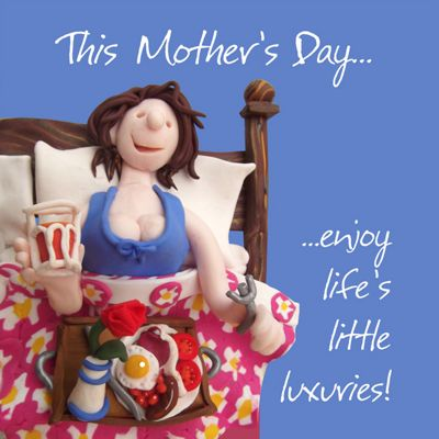 Holy Mackerel Mother's Day little luxuries Greetings Card