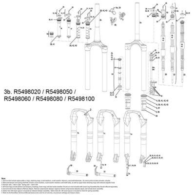 RockShox CSU Sektor U/Turn Tapered Aluminium Steerer 150mm
