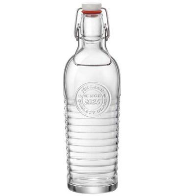 Bormioli Rocco Officina 1825 Vintage Flip Top Glass Bottle - 1200ml (37.25oz)