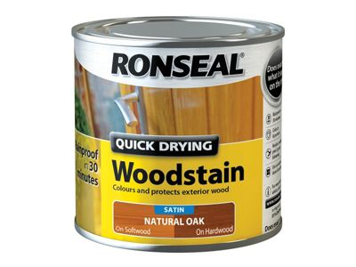 Ronseal Woodstain Quick Dry Satin Natural Oak 250ml