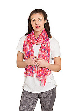Zakti Womens 100% Polyester First Day of Spring Lightweight Scarf - Multi