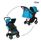 iCoo Acrobat Shop n Drive Travel System - Fishbone Blue