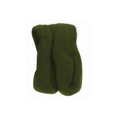 Impex Natural Wool Roving Dark Green 10 Grams