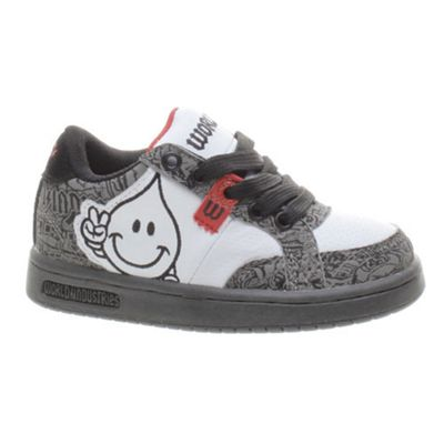World Industries Willy Jr Grey/White/Red Kids Shoe