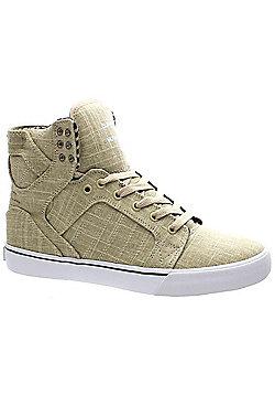 Supra Skytop Pale/Khaki/White Shoe - Brown