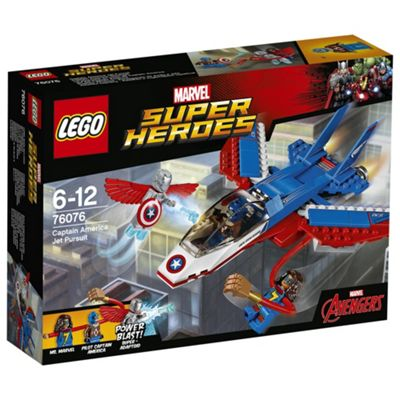LEGO Marvel Super Heroes Captain America Jet Pursuit 76076 Superhero Toy
