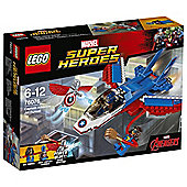 LEGO Marvel Super Heroes Captain America Jet Pursuit 76076