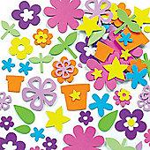 Kids Crafts Flower Garden Foam Stickers (200 Pcs)