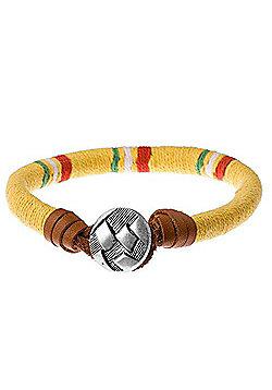Urban Male Ciro Bright Coloured Cord and Leather Men's Beach Bracelet