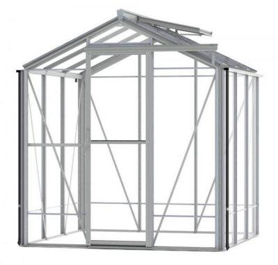 Robinsons Regent 6x6 Plain Aluminium Greenhouse with 4mm Toughened Glass
