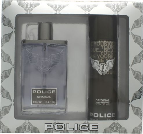 Police Original Gift Set 100ml EDT + 200ml Deodorant Spray For Men