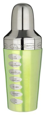 Trudeau Fusion Recipe Cocktail Shaker, Green