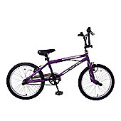 "Ammaco Freestyler 20"" Wheel 360 Gyro Bmx Bike Stunt Pegs Purple"
