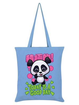 Handa Panda Today Is A Good Day Tote Bag 38 x 42cm, Sky Blue