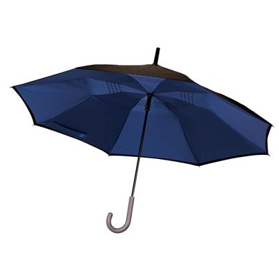 JML Incredibrella: The umbrella with inverted closing & opening and Windproof- Blue