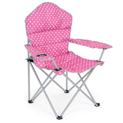 Trail Deluxe Polka Dot Folding Festival Chairs - Pink