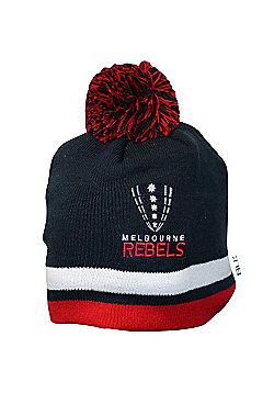 BLK Sport Melbourne Rebels Super Rugby Beanie 2017 - Navy