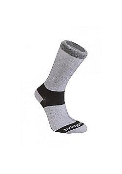 Bridgedale Mens Everyday Outdoors Coolmax Liner Sock - Grey