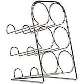 Stand - Metal 6 Tabletop Bottle Wine Rack - Chrome Silver
