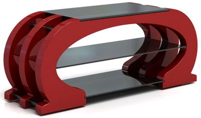 Gecko Omega TV Stand - Gloss Red