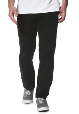 F&F Stretch Straight Leg Chinos 34 Waist 30 Leg Black