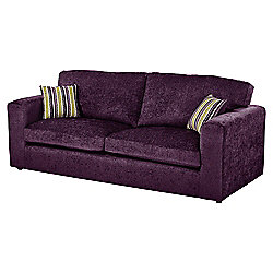 Taunton Large 3 Seater Sofa, Plum