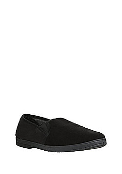 F&F Closed Back Slippers with Thinsulate™ - Black