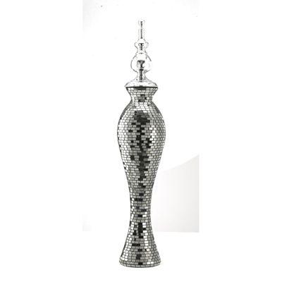 Anika Mosaic Glass Art Large Ornament Silver