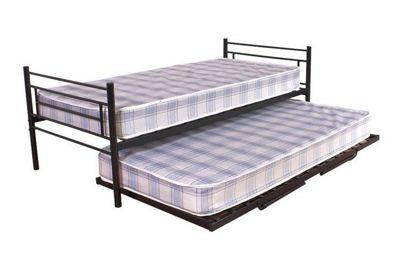 GFW Seville Trundle Bed Frame - Black