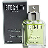 Calvin Klein Eternity Eau de Toilette (EDT) 50ml Spray For Men