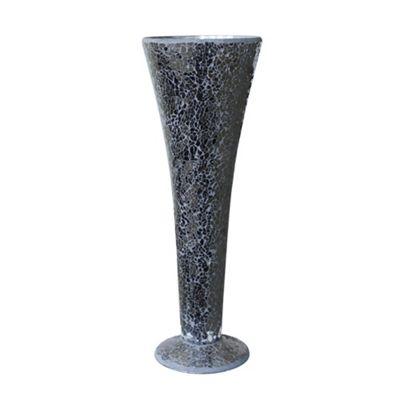 Black Sparkle Mosaic Trumpet Vase
