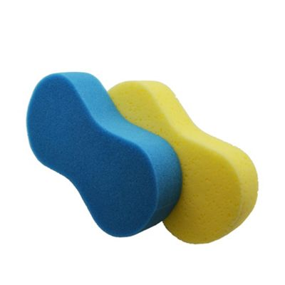 Large Blue and Yellow Multipurpose Car/Household Cleaning Sponge - Pack of 2