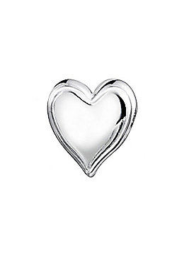 Jo For Girls Polished Silver Heart Slide On Bead
