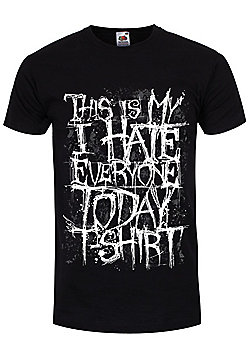 This Is My I Hate Everyone Today Men's Black T-shirt - Black