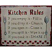 Kitchen Rules Wall Art by YH-Arts, 35.5cm x 28cm