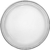 Clear Serving Plates - 26cm Plastic Party Plates - 50 Pack