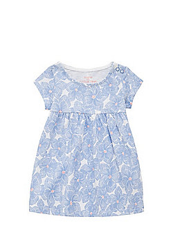 F&F Floral Print Smock Dress - Blue & Multi